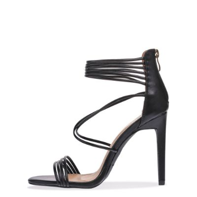 Black Multi Strap Heel