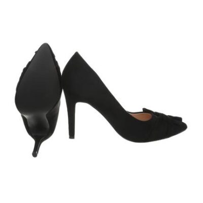 Black Mid Heel Pumps